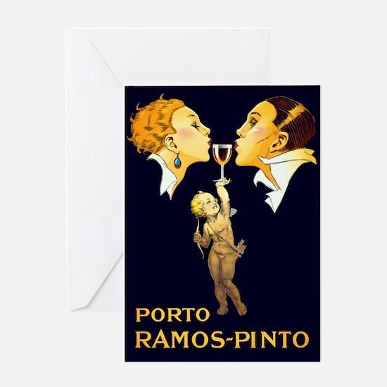 Porto Ramos- Pinto, Wine, Vintage Poster Greeting