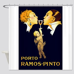 Porto Ramos- Pinto, Wine, Vintage Poster Shower Cu