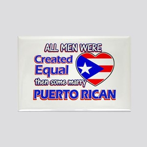 Puerto Rican Wife Designs Rectangle Magnet