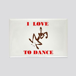 LOVE TO DANCE Rectangle Magnet