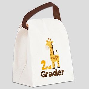 2nd Grader giraffe Canvas Lunch Bag