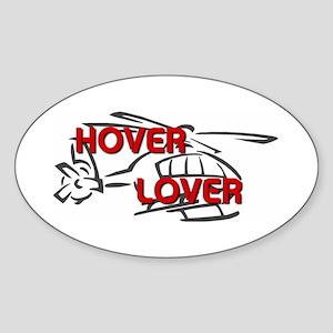 Hover Lover Oval Sticker