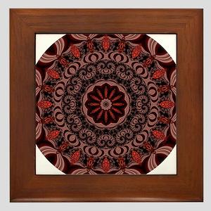 Chocolate Raspberries Framed Tile