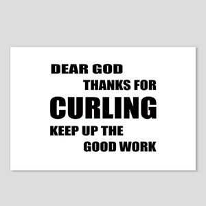 Dear god thanks for Curli Postcards (Package of 8)