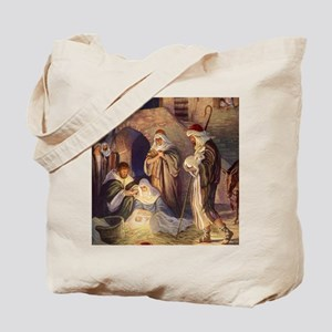 Vintage Christmas Nativity Tote Bag