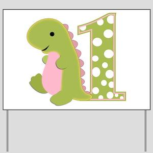 First Birthday Dino Yard Sign