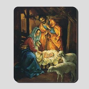 Vintage Christmas Nativity Mousepad