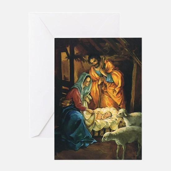 Vintage Christmas Nativity Greeting Card