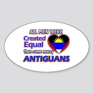 Antiguan Wife Designs Sticker (Oval)