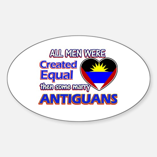 Antiguan Wife Designs Sticker (Oval)