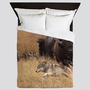 Bull Bison, Female, & Wolf Queen Duvet