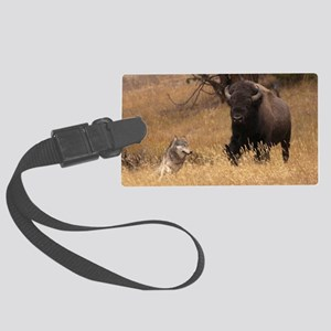 Bull Bison & Wolf Large Luggage Tag