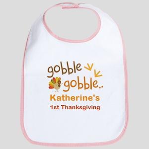 Personalized 1st Thanksgiving Turkey Bib