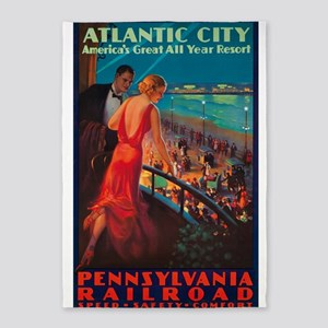 Atlantic City, Travel, Vintage Poster 5'x7'Area Ru