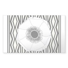 Cute Chic White Anemone Thank You Sticker
