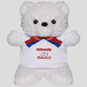 Funny 57 year old birthday designs Teddy Bear