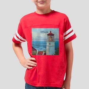 heceta-head-clock Youth Football Shirt