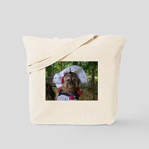 EmilyRose Smiling (polka dot hat ) Tote Bag