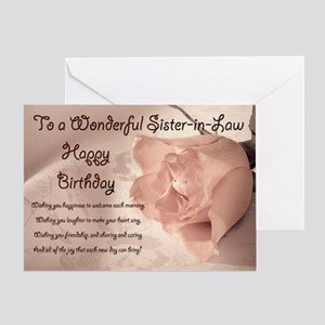 For Sister In Law Elegant Rose Birthday Card Gre