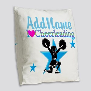 CHEERING CHAMP Burlap Throw Pillow