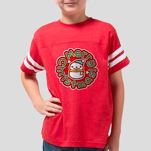 MerryChistmasSnowmanDark Youth Football Shirt