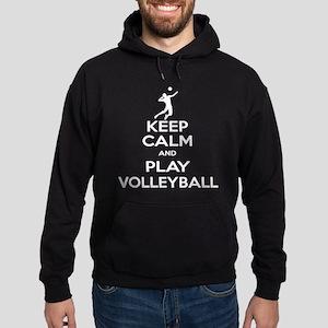 Keep Calm Volleyball Guy Hoodie (dark)