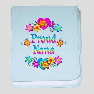Proud Nana Flowers baby blanket