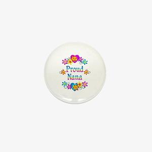 Proud Nana Flowers Mini Button
