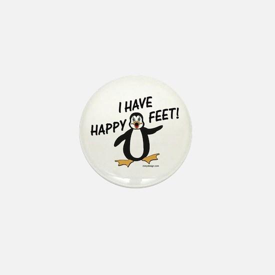 Happy Feet Penguin Mini Button