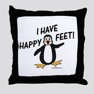 Happy Feet Penguin Throw Pillow