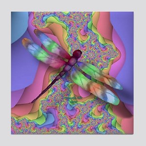 Dragonfly 4 Tile Coaster