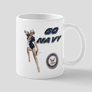 USN Go Navy Girl Mug