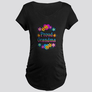 Proud Grandma Maternity Dark T-Shirt