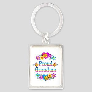 Proud Grandma Portrait Keychain