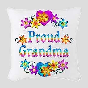 Proud Grandma Woven Throw Pillow