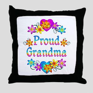 Proud Grandma Throw Pillow