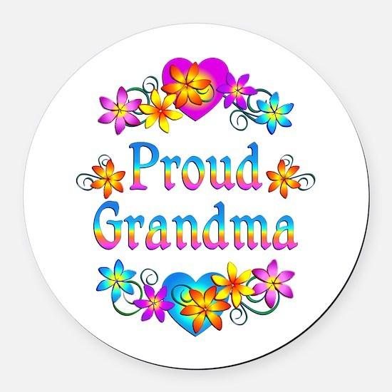 Proud Grandma Round Car Magnet