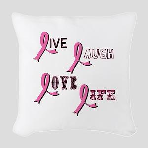 BREAST-CANCER-AWARENESS-2 Woven Throw Pillow