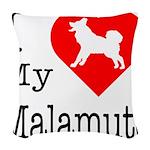 Malamute Woven Throw Pillow