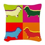 BASSETT-HOUND Woven Throw Pillow
