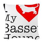 Basset-Hound Woven Throw Pillow
