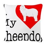 Sheepdog Woven Throw Pillow