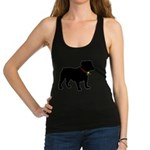 Bulldog Christmas or Holiday Silhouette Racerback