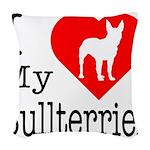 Bullterrier Woven Throw Pillow