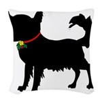 Chihuahua Christmas or Holiday Silhouette Woven Th