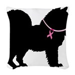 chow chow Woven Throw Pillow