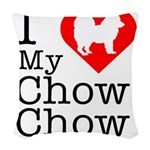 Chow-Chow Woven Throw Pillow