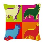 COLLIE Woven Throw Pillow