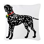 Dalmatian Christmas or Holiday Silhouette Woven Th