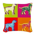DALMATIAN Woven Throw Pillow